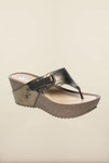 Pavers England Navy Thong Wedges