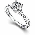 Piya Silver Swarovski Zirconia Delicate Solitaire Ring FRLS30008937