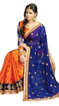 Janasya Orange Jacquard Sari With Blouse @ 857(Shipping included) + Free Movie ticket @65% discount MRP 3769 + See comparison