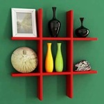 Onlineshoppee Findlay Wall Shelf Red  @ Fabfurnish