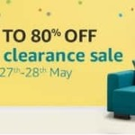 Amazon Home Clearance Sale 27th-30th May 17 (Upto 80% Off) discount deal