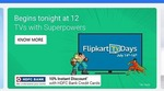 Flipkart Big TV days from 14-16 July 10% off with HDFC Credit Cards