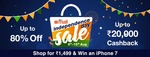 Paytm Independence Day Sale: Upto 80% Off & Upto ₹20,000 Cashback