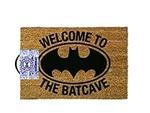 Batman Welcome To The Batcave Door Mat Brown 60x40cm