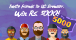 UC Browser invite n win Rs.5000