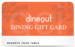 Flat 15% off on dineout gift card