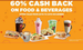 Cafe Coffee Day : 60% cashback on Food and Beverages/ Other offers