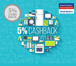 Extra 5% Cashback at Great Eastern Appliances stores with SBI bank cards