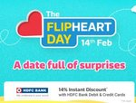 Flipheart day - 14% discount with HDFC cards on 14 Feb