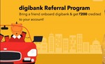 DigiBank App Refer and Earn – Get Rs 500 on Sign up and Rs 200 per Referral and free Visa debit card (ATM)