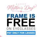 Get Spectacles FRAME for FREE, Pay Only for Lenses
