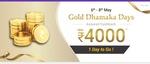 [Last Day] Phonepe - Gold Dhamaka Days - Assured Cashback upto 4000 ( 6 - 8 May)
