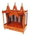 Wood Beauty Brown Wooden Carved Mandir