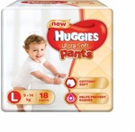 Huggies Ultra Soft Large Size Premium Diapers - L  (18 Pieces)