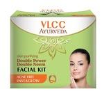 VLCC Ayurveda Skin Purifying Double Power Double Neem Facial Kit- 50g