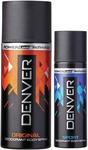 Denver Deo Original 150 Ml & Sports Nano 50 ml Deodorant Spray - For Men  (200 ml, Pack of 2) @Flipkart