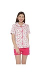 (Only 4 Left) Clovia Cotton Floral Print Top & Shorts Set