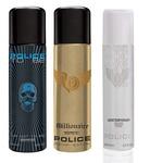 Police Pk3 Contemporary, Tobeman and Millionaire Men Deos, 450ml