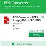 PDF TO IMAGE CONVERTER RS 100@FREE