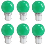 Eveready 0.5 W Standard B22 LED Bulb  (Yellow, Pack of 6)