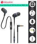 boAt BassHeads 200 Extra Bass In Ear Wired Earphones With Mic Black