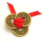 Lucky Coins Showpiece - 2 cm  (Copper, Copper)