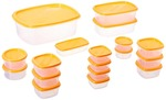 SF Package Container Set, 18-Pieces, Orange[Prime memebers only]