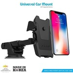Zaap Quick Touch One Premium 360 Adjustable 3-in-1 Car Mount Holder For All Smartphones (3rd Generation, Black)