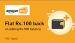 Amazon : Add Rs.500 and Get Flat Rs.100 Cashback using Zeta App