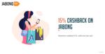 [T&C Change] Flat 15% cashback upto 75 with freecharge on jabong