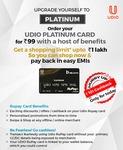 Order Udio Platinum Card worth 99₹ & Get 101₹ cashback in Wallet