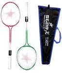 Multi-shaft Steel Badminton Racquet Set, Adult G4-3 3/4-inch (Multicolor)