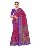 KUPINDA kalamkari Style Art Silk saree color: Pink (4227-TK-01-RST-VLT)