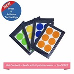 Safe-O-Kid Pack of 24(+6 Free) ASSORTED Color Mosquito Repellent Patches- Highly Effective Patches by Safe-O-Mos