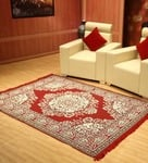 Red Cotton 54 x 84 Inche Dhurrie Rug by Status Rs.199 - Pepperfry