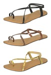 RED CHOICE COLLECTION Women's Fashion Sandals (Pack of 3