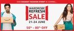 Amazon Fashion Wardrobe Refresh Sale - 21st to 24th June