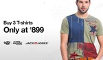 Buy 3 T-Shirts of Top Brands at Rs.899 Only