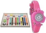 Cloudwood New Arrival cute Apple 11 belt multicolour Stylish Analog Watch - For Girls & Women