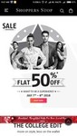 Shoppers stop sale flat 50% Discounts on 7th & 8th July