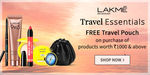 Free Travel Pouch Shop Rs.1000 & Above