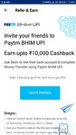 (Still Available) Paytm Bhim UPi refer 5 friends and get Rs.100 referre gets Rs.20