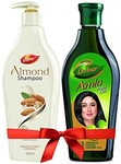 Dabur Almond Intense Nourishment Shampoo, 350ml with Free Dabur Amla Hair Oil, 450ml