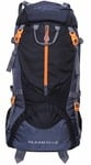 Gleam 0109 Climate Proof Mountain Rucksack , Backpack 75 Ltrs Black & Grey With Rain Cover