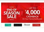 Paytm EOSS sale Get upto 4000 cashback on purchasing giftcards of Offline stores
