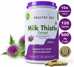 LOWEST   Healthyhey Nutrition Milk Thistle Extract 600 Mg -120 Vegetable Capsules