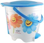Princeware 4418-P Printed Wave Round Mini Garbage Bucket (Assorted Colors and Prints