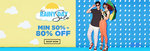 Starts 12.AM:- Rainy Day Sale, Min. 50% - 80% Discount + More Offers