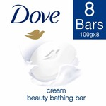 [steal] Dove Cream Beauty Bathing Bar, 100 g (Pack of 8)