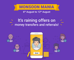 Phonepe Monsoon Mania - Send Money & Refer N Earn Offers | 6 - 12 August